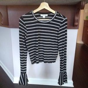 Adam Levine Women's Lurex Stripe Top - NWT Size L